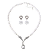 Necklace, Hatop Fashion white Freshwater Pearl Pendant Necklace Silver Chain Jewellery
