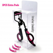 PREFER BEAUTY Eyelash Curler - The Best Lash Curling Tool Set with 3PCS Pink Refill Pad and a Travel Bag to also store your Mascara and Eyeliner – No Pinch Design for Eye Safety & Stunning Eyelashes