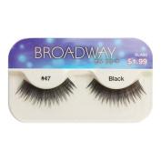 Broadway Eyes False Strip Eyelashes 100% Human Hair Black #47, BLA23
