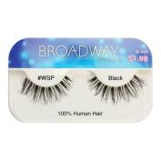 Broadway Eyes False Strip Eyelashes 100% Human Hair Black #WSP, BLA20