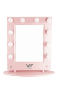 Ver Beauty Pink Matte, Lighted Vanity Mirror with Dimmer
