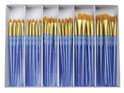 Royal Brush Scholastic Choice Gold Taklon Brush Set, Set of 72