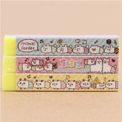 Long yellow funny hamster alpaca eraser from Japan