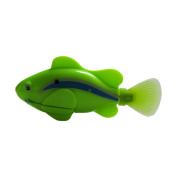 Adarl Simulation Swimming Electronic Fish Activated Battery Powered Robo Fish Children Kids Bathing Water Toys Green