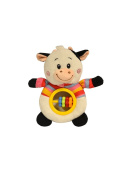 Baberoo Soft Stuffed Animal Toy Abacus Rattle for Babies, Cow, 13cm