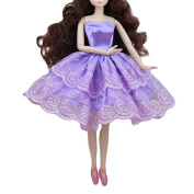 Lace Doll Clothes Purple Ballet Dress Doll Dress Toy Clothes for Dolls