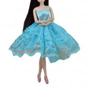 Ballet Dress Doll Dress Blue Lace Dress Doll Clothes Toy Clothes for Dolls