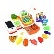 Kidami Pretend Play Cash Register Toy for Kids with Realistic Actions and Variety of Accessories