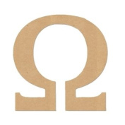 "15cm LETTER ""OMEGA"" GREEK FONT Unfinished Wood/Wooden Letter DIY Home, COLLEGE, SOROITY AND FRATERNITY Decor USA Made"