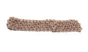 Trimweaver 10-Piece Woven Crochet Fabric Headbands, 3.8cm , Tan