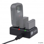 CamKix Triple Pro Charger - Charges your GoPro HERO 4 and HERO 3 Batteries and GoPro Remote Control - Red/Green LED Charging Status Indicators - USB Charge Cable Included - AHDBT- 301/302/401