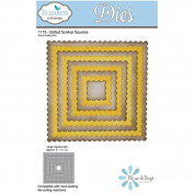 Elizabeth Craft Design 1175 Dotted Scallop Squares Steel Cutting Die