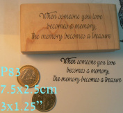 "P83 ""When someone you love"" sentiment stamp"