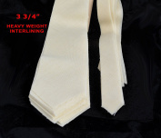 25 PACK of PRE-CUT 100% wool HEAVY weight necktie interfacing / interlining - AC Ter Kuile, finest available, made in Netherlands (5 SIZES AVAILABLE)