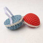 Chris.W Fabric Coated Wrist Wearable Sewing Pin Cushions Needles Pincushions for Handy Needlework DIY Craft, Pack of 2