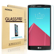 LG G4 Screen Protector, NOKEA [9H Hardness] [Crystal Clear] [Easy Bubble-Free Installation] [Scratch Resist] Tempered Glass Screen Protector for LG G4