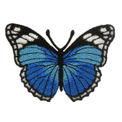 Blue Butterfly Embroidered Iron on Patches