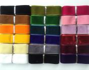 "Chenkou Craft 20 Yards 1"" Velvet Ribbon Total 20 Colours Assorted Lots Bulk 25mm"