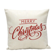 Christmas Letter Sofa Pillow Cover Bescita Bed Home Decoration Festival Pillow Case Cushion Cover