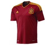 2012-13 Spain Adidas Home Football Shirt