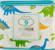 Kids Twin Bed Sheet Set Multi-Coloured Dinosaurs