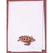 Betsy Drake GT044 Green Sea Turtle Guest Towel