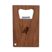 Netherlands Bottle Opener With Wood, Stainless Steel Credit Card Size, Bottle Opener For Your Wallet, Credit Card Size Bottle Opener