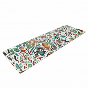 "KESS InHouse Yoga Mat Pom Graphic Design ""Nuts for Love"" Green Brown Nature Illustration Yoga Mat, 180cm x 60cm"