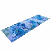 "KESS InHouse Yoga Mat Ebi Emporium ""When We Were Mermaids 15 Blue"" Lavender Watercolour Yoga Mat, 180cm x 60cm"