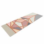 "KESS InHouse Yoga Mat Draper ""Rose Gold Geometry"" Gold Pastel Digital Yoga Mat, 180cm x 60cm"