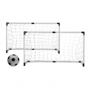 Vandue TWINSOCCERGOALSSET Twin Soccer/Hockey goals with Nets, Stakes and Ball and Pump, 15cm , White