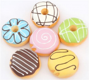 Cute 6pcs donut set kawaii colourful squishy