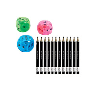 Bunco Pencils & Dice Pencil Sharpners
