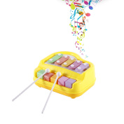 LESHP Baby Kids Musical Toy Educational Piano Music Toy with Two Piano Sticks for Developing a Sense of Rhythm Yellow