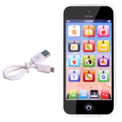 Yphone Learning Toy Phone Usb Cable Toy Mobile Phone for Kids Children Black with USB Recharable New Educational Gifts