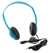 Califone 3060AVBL Multimedia Wired Stereo Headphone, Blueberry