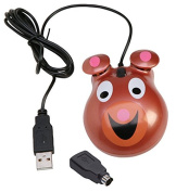 Califone Optical Bear Theme Computer Mouse, ABS Plastic, 3-1/2 L x 2-1/2 W x 1-1/4 H in