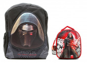 Kylo Ren Star Wars The Force Awakens 3D Backpack and Lunch Bag Box Combo