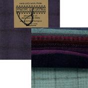 Primitive Gatherings Hand Dyed Wool Purples Charm Pack 10 13cm Squares PRI 6003