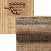 Primitive Gatherings Hand Dyed Wool Sheep Charm Pack 10 13cm Squares PRI 6001