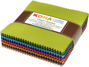 Kona Cotton Dusty 101 Palette Charm Square 101 13cm Squares Charm Pack Robert Kaufman CHS-563-101