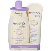 Aveeno Baby Calming Comfort Bath + Lotion Set, 2 Items