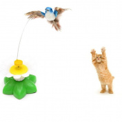 Transer® Toys for Pet Cat- Funny Electric Swivel Seat Bird Kitten Toy