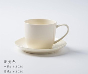 YX.LLA Creative Coffee Cup Kit Simple Continental Porcelain Teacups Afternoon Cup Cupholders,Yellow