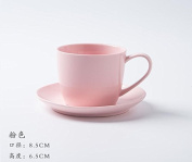 YX.LLA Creative Coffee Cup Kit Simple Continental Porcelain Teacups Afternoon Cup Cupholders,The Toner Colour Sakura