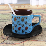 YX.LLA Continental Cup Of Coffee Mugs . Package Milk Mugs Creative Ceramic Cups Of Tea Cups Square,Blue