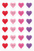 Hygloss 18781 Happy Heart Stickers 480 Stickers