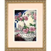Dimensions Needlecrafts Gold Petite Counted Cross Stitch, Lace And Roses