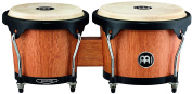 Meinl Percussion HB100SNT-M Standard Size Rubber Wood Bongos with Natural Skin Heads, Super Natural Finish