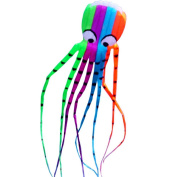 Hengda Kite-Beautiful Large Easy Flyer Kite for Kids - Red Mollusc octopus-It's BIG! 80cm Wide with Long Tail 400cm Long-Perfect for Beach or Park by Hengda kite